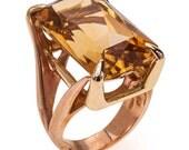 Gold ring 18K Citrine