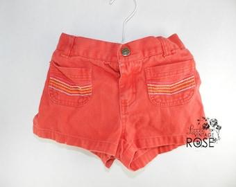 Retro Nick Jr  Girls Shorts, Toddler Nick Jr, Vintage Style Shorts, Retro Toddler Shorts, 4T Shorts, Red Toddler Nick Jr Shorts,Red Shorts