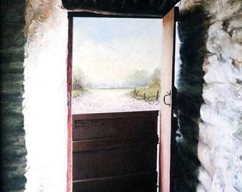 Half Door (print of original acrylic)