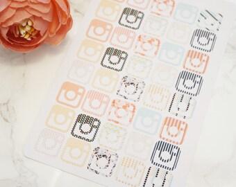 Pattern Insta Stickers // Mini