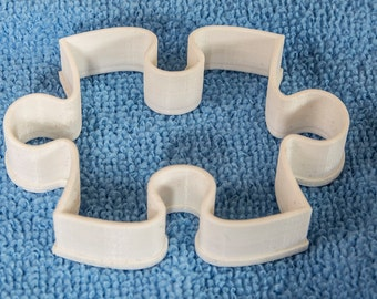 Jigsaw piece/Pastry/Icing Cutter - Food safe 3D printed - made in the UK - late summer special - buy any 2 cutters get one free!!!!!!