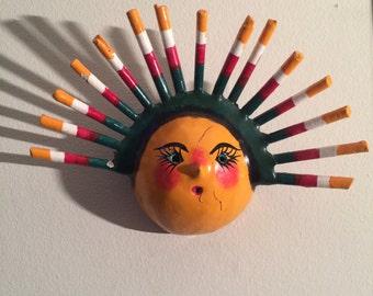 Hand made sun mask