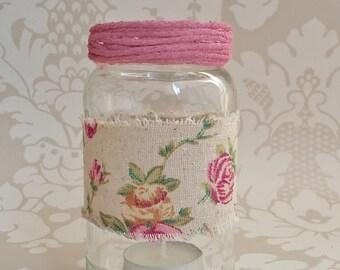 Rose hessian tealight holder