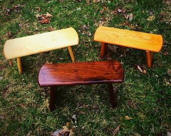 Handmade Hardwood Meditation Bench's
