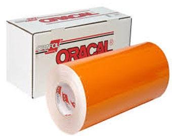 "Oracal 651 Orange Adhesive Vinyl 12 x 12"" Sheets"