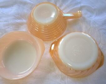 Vintage Fire King Bowls Set Of Three