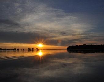 Peaceful sunrise, Lake Winnebago