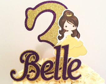 Beauty And The Beast Inspired Cake Topper