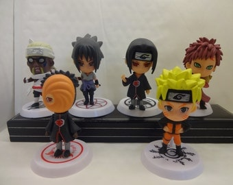 Mister A Gift NARUTO Anime Set Of 6 Cake Topper Figures