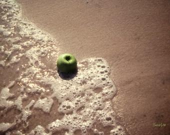 Green Apple on Beach