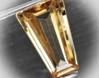 1.17ct Tanzanian Trapezoid Zircon Pale Gold