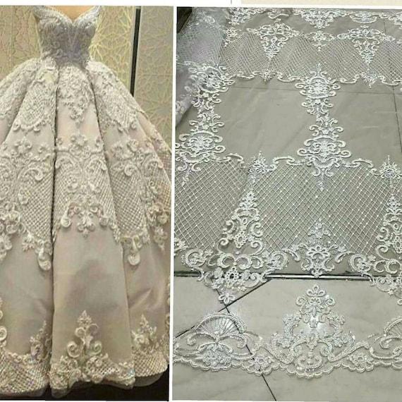 elegent tulle lace bridal lace fabric fashion wedding dress fabric