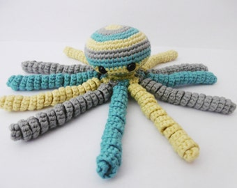 Doudou Octopus baby toy rattle