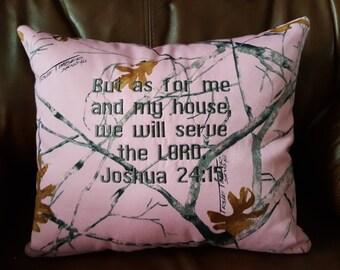 Pink Camo Pillow