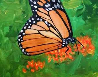 Original painting - monarch butterfly 8 x 10