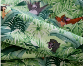 Jungle Book Character Oxford Fabric made in Korea by the Half Yard