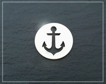Anchor Charm Sterling Silver Nautical Charm Pendant For Necklace