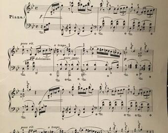 Vintage piano music sheets