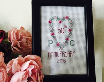 Anniversary Cross Stitch