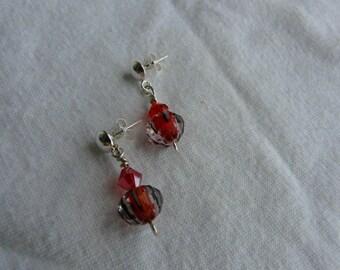 Orange/Black Drop Earrings