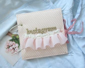 Mini Scrapbook Album, Instabook, Handmade Photo Album, Instagram