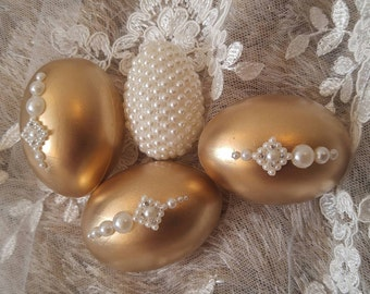 2 x Sofreh aghd decorative eggs (gold)