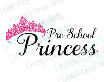 Preschool svg cut file / princess svg file / princess cut file / Preschool princess SVG / preschool svg / vinyl crafting / preschool stencil