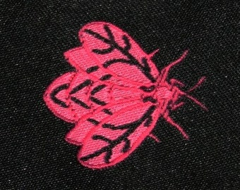 80% OFF! CLEARANCE full roll Black and Pink Bumblebee Jacquard (04-112-VA-109)