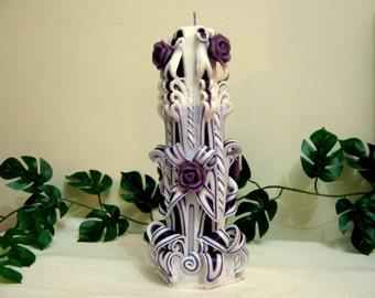 "Carved candle - 25sm (10""),handmade,unique"