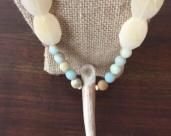 Antler & Amazonite Necklace