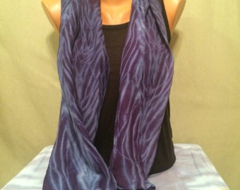 Arashi Shibori Silk Wool Scarf