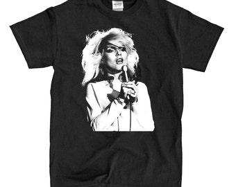 Blondie - Debbie Harry Singing - Black T-shirt