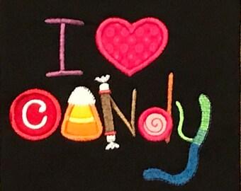 I Love Candy kids t-shirt