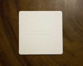 The Coaster is Clear - set of 4 letterpress coasters