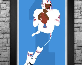 WARREN MOON minimalism style limited edition art print. Choose from 3 sizes!