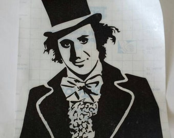 Willy Wonka Decal, Willy Wonka and the Chocolate Factory, Gene Wilder