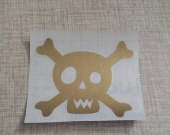 Skull Decal, Skull Stickers, Skeleton Decal, Bones Sticker, Vinyl Decal, Skull and Crossbones, Bumper Sticker, Halloween Decal