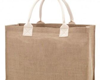 Burlap Tote Bag, Blank Burlap Bag, Jute Tote, Monogram Blank