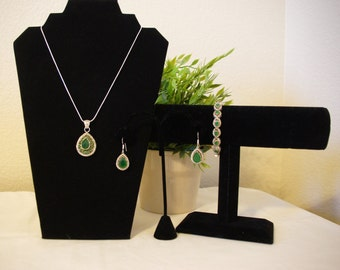 Victorian Costume Jewelry- Green