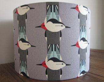 Handmade Lampshade Charley Harper Birds **LAST ONE **