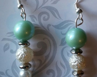 green and pearls