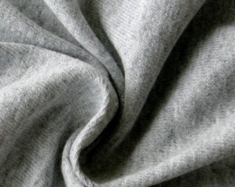 Grey jersey fabric sold by the meter  148cm wide.