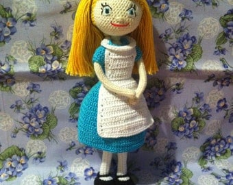 Crochet doll Alice. Handmade. Alice in wonderland.