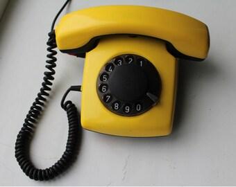 Soviet phone. Desk phone. rotary phone. Disk phone. Vintage phone USSR.