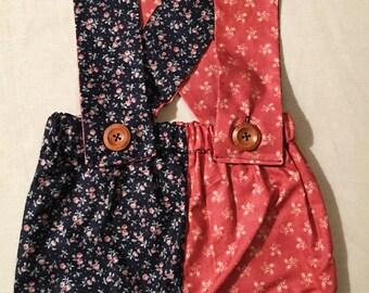 SMALL girls suspender shorts