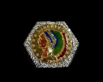 DIAMOND COIN RING