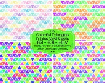 Colorful Triangle Vinyl/Printed Heat Transfer Vinyl/Patterned Vinyl/Printed 651 Vinyl/Printed 631 Vinyl/Printed Outdoor Vinyl/Printed HTV