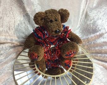Handmade collectable Spider-Man stretchy artists bear