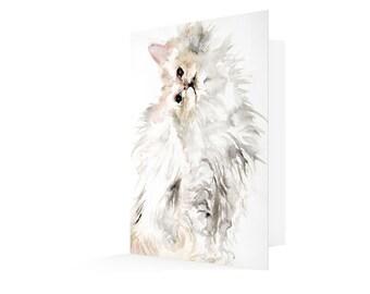 Curious Cat - Greetings Card