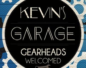 Custom Garage Sign Digital Download